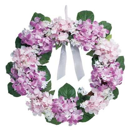 "35058 Hydrangea Wreath - 23"""