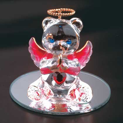 35067 January Glass Angel Bear