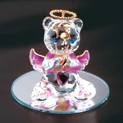 35068 February Glass Angel Bear