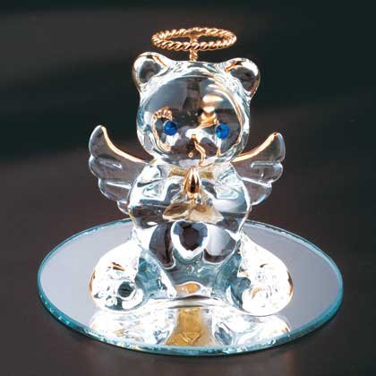 35070 April Glass Angel Bear