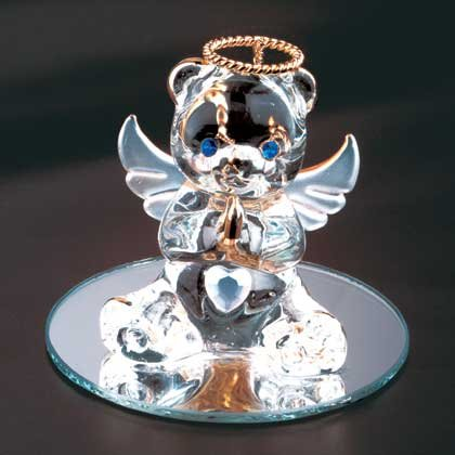 35072 June Glass Angel Bear