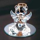 35072 June Glass Angel Bear