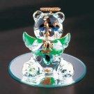 35074 August Glass Angel Bear