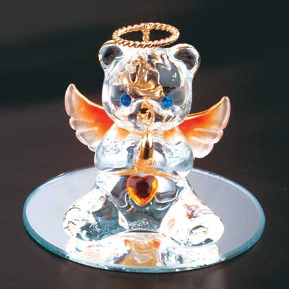 35077 November Glass Angel Bear