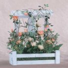 35108 Roses in Wood Lattice Planter