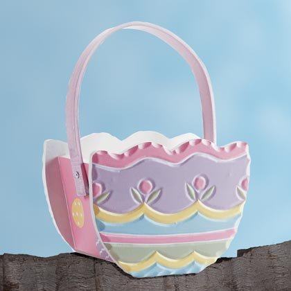 35116 Painted Egg-Shaped Basket