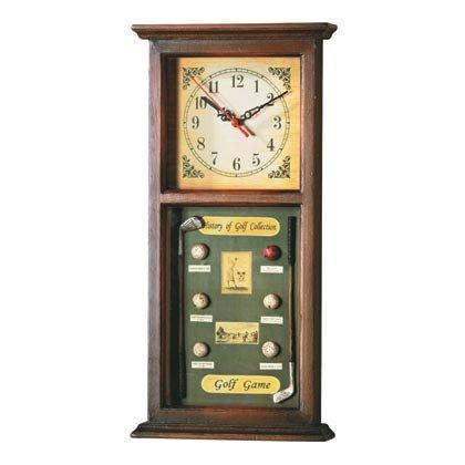 35133 Golf Motif Shadowbox Clock