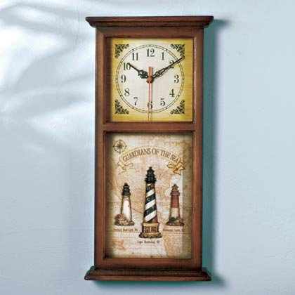 35134 Lighthouse Shadowbox Clock
