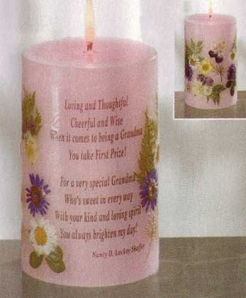 35226 Grandma Candle With Dried Flowers