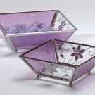 35246 Purple Glass Candle Plate