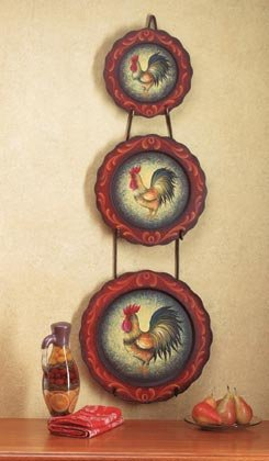 35259 Rooster Motif Plate Set