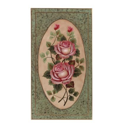 35266 Rose Design Wall Plaque