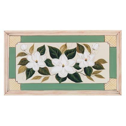 35267 Handpainted Magnolia Wall Plaque
