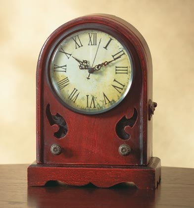 35307 Antique-Like Radio Clock with Key Cabinet