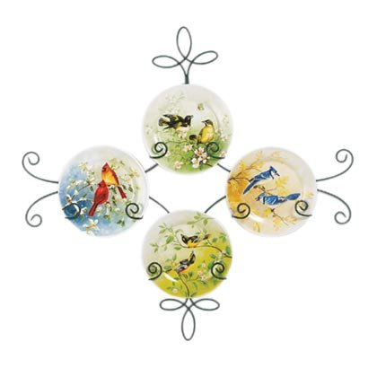 35321 5pc Birds Seasons Plate with Rack