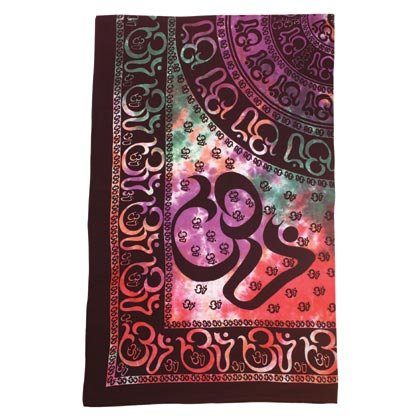 35339 Om Sanskrit Design Cotton Sheet