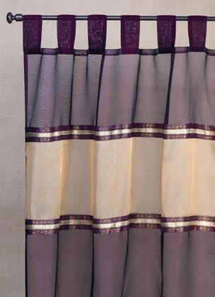 35349 Burgundy Gold Trim Curtain