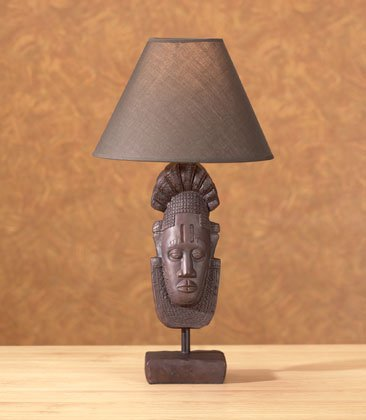 35358 Tribal Mask Lamp of Africa