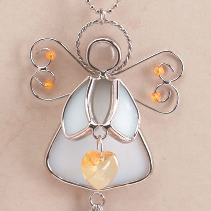 35369 Angel November Birthstone Heart
