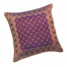 35389 Burgandy & Gold Brocade Cushion