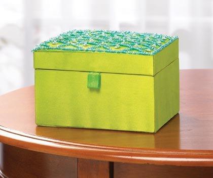 35539 Fabric Embroiderd Jewelry Box