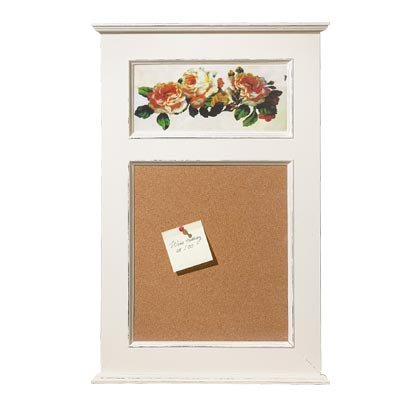 35591 Shabby Floral Wood Corkboard
