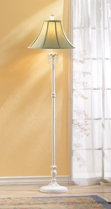 35648 Green Shade White Floor Lamp