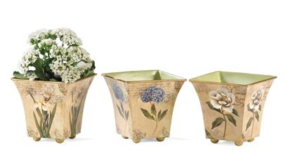 35630 Nested Rose Tin Pots