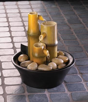 35658 Zen Bamboo Tabletop Fountain