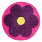 35661 Flower Round Shape Rug