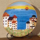 35668 Patchwork Coast Plate with Stand