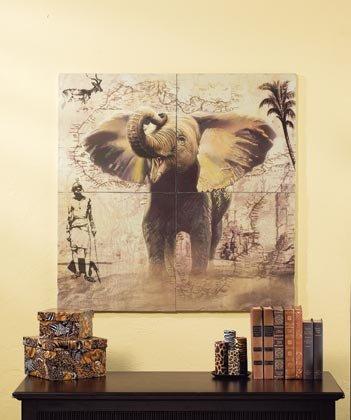 35692 Elephant Wall Mural