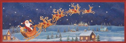 35748 Santa Sleigh Framed Wall Art