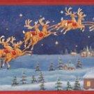 35748 Santa Sleigh Framed Wall Art