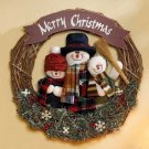 35758 Plush Snowman Family Wreath