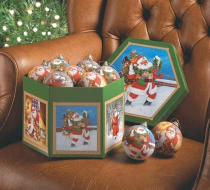 35764 1 Dz. Santa Ball Ornaments