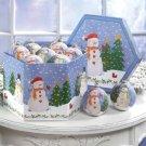 35765 1 Dozen Snowman Ball Ornaments