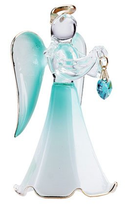 30826 Glass Angel With December Birthstone