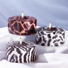 31126 3-Piece Safari Cylinder Candle