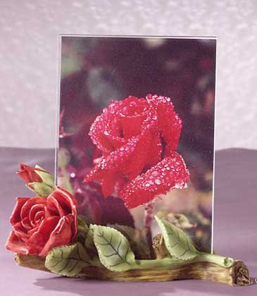 31158 Alabastrite Red Roses Photo Frame