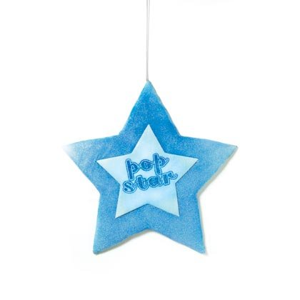 36828 Star Puffy Mesh Hangup Decor