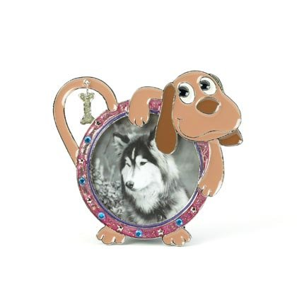 36875 Dog Pewter Photo Frame