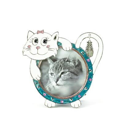 36876 Cat Pewter Photo Frame