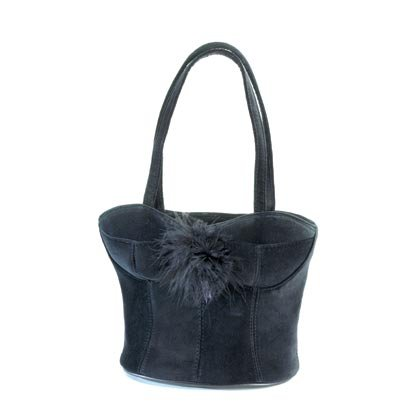 36879 Black Panne Corset Bag