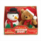 36761 Musical Plush Snowman And Bear
