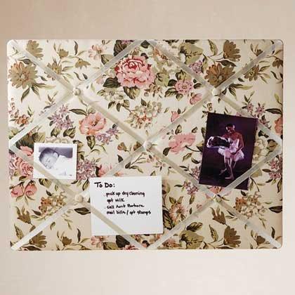 34872 Floral Fabric Memo Board