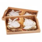 35061 Hen-themed Serving Trays