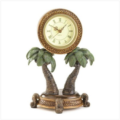 36005 Palm Tree Clock