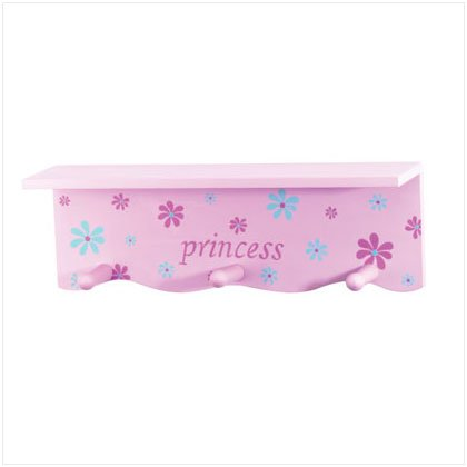 36253 Princess Wall Shelf With Hooks