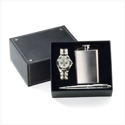 36467 Watch Pen Flask Set